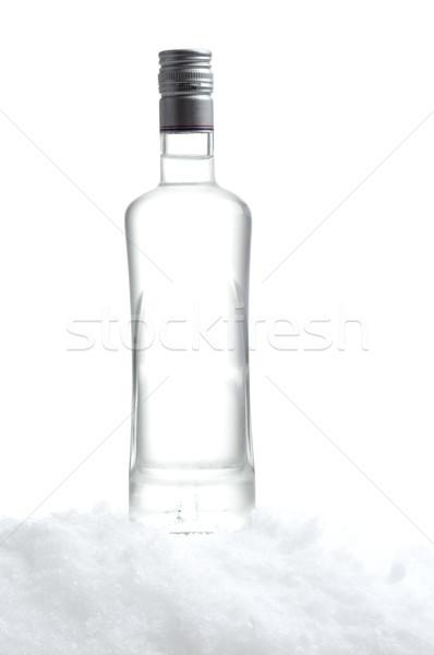 şişe votka ayakta buz beyaz Stok fotoğraf © dla4
