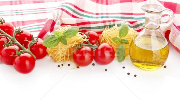 Foto tagliatelle kers top witte pasta Stockfoto © dla4