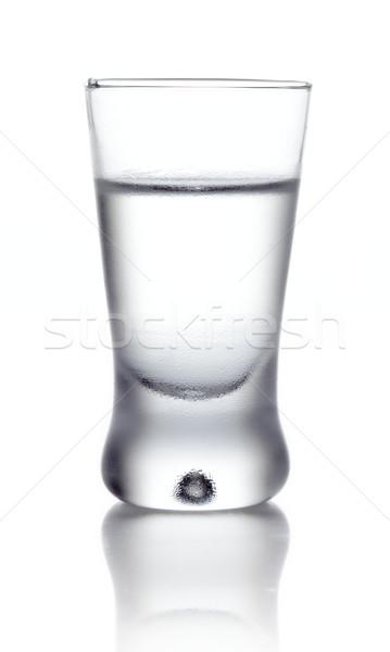 Cam votka yalıtılmış beyaz stüdyo Stok fotoğraf © dla4