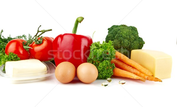 Photo stock: Groupe · nutriments · plein · vitamine · blanche · laisse
