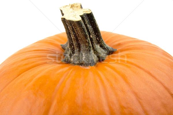 Primer plano tiro naranja calabaza aislado blanco Foto stock © dla4
