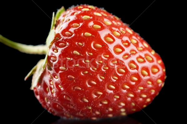 マクロ 表示 全体 イチゴ 孤立した 黒 ストックフォト © dla4