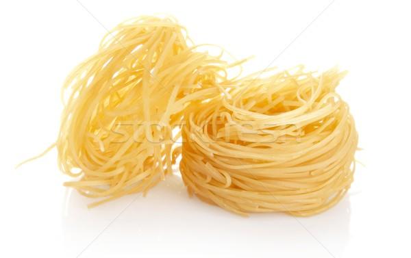 Shot tagliatelle geïsoleerd witte pasta Stockfoto © dla4