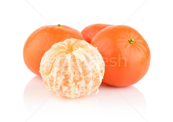 Studio shot mandarines,tangerines isolated on white Stock photo © dla4