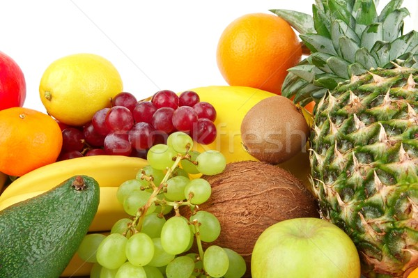 Dietético conjunto paleo dieta frutas branco Foto stock © dla4