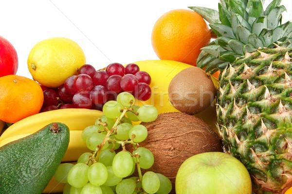 Dietetico set paleo dieta frutti bianco Foto d'archivio © dla4