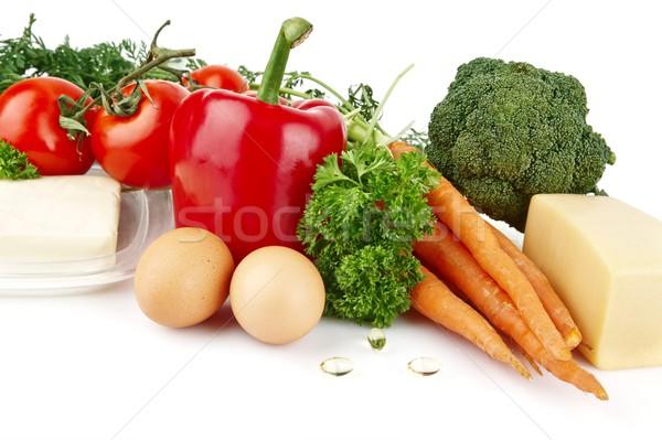 Grupo nutrientes completo vitamina branco folhas Foto stock © dla4