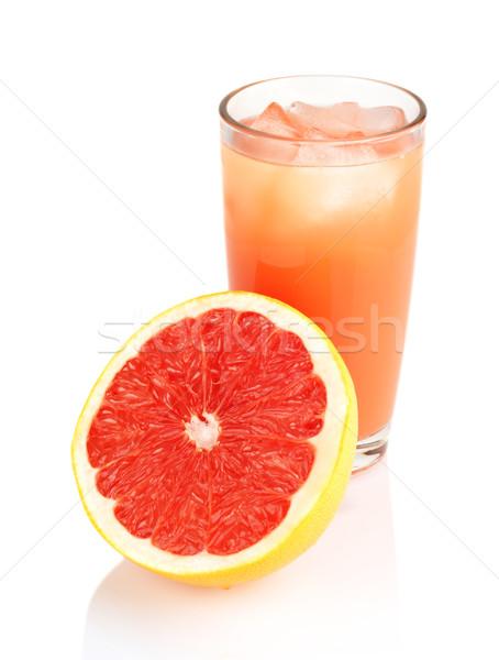 Grejpfrut soku odizolowany biały Zdjęcia stock © dla4