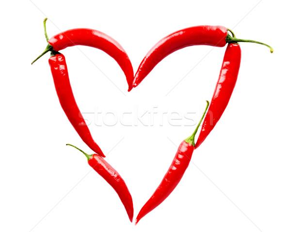 Сток-фото: сердце · красный · белый · изолированный · природы