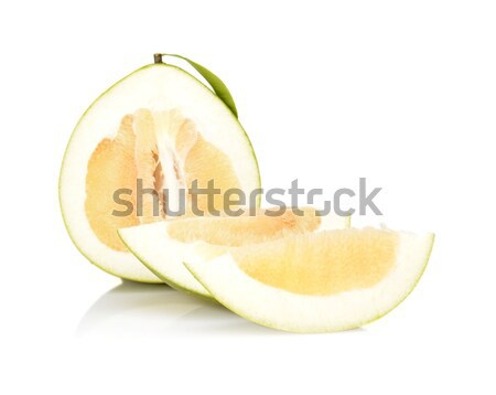 Three pomelos,half,quarter isolated on white Stock photo © dla4