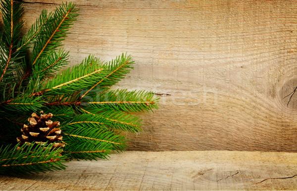 Рождества фоны ель ель конус Сток-фото © dla4