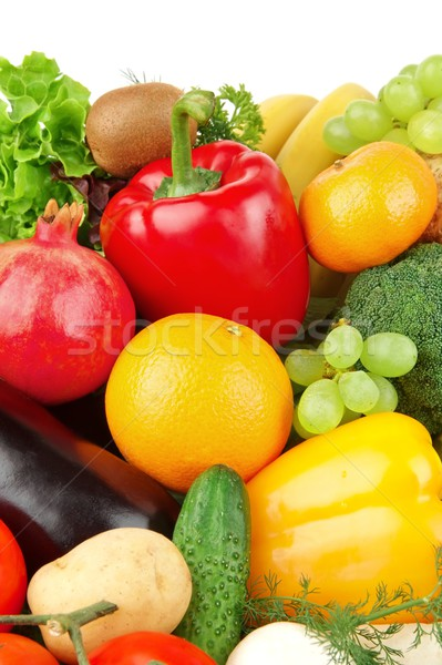 Dietetic set of paleo diet of vegetables and fruits Stock photo © dla4