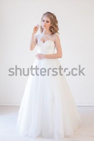bride wedding gown white wedding love Stock photo © dmitriisimakov