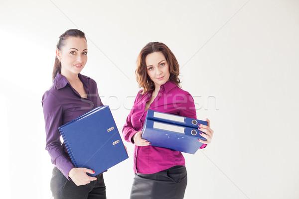 Negócio menina documentos papel mão Foto stock © dmitriisimakov