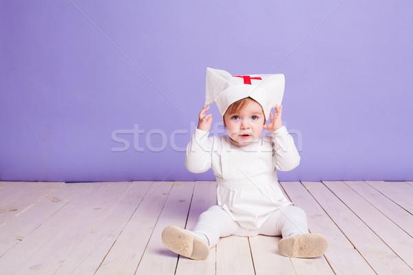девочку больницу медсестры стетоскоп девушки счастливым Сток-фото © dmitriisimakov