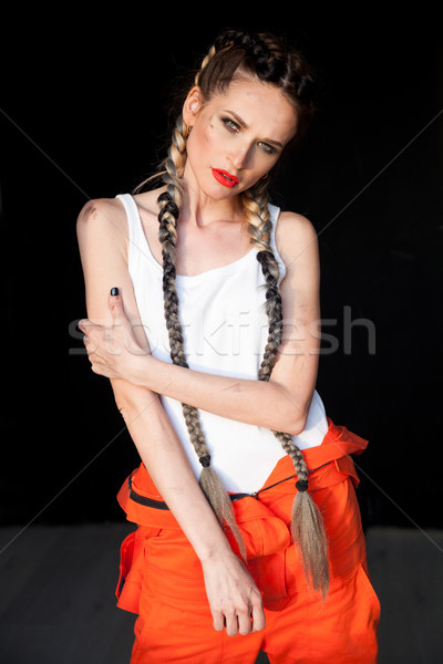 mechanic with tools woman with braids f Stock photo © dmitriisimakov