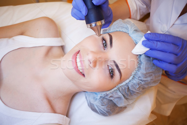 Cosmetology Spa woman doing procedures on the face Stock photo © dmitriisimakov