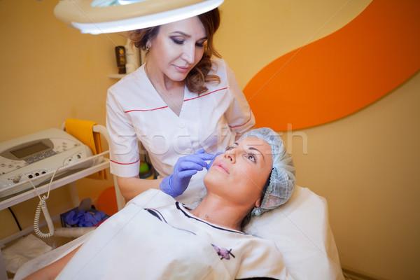 Spa врач пациент лечение женщину Сток-фото © dmitriisimakov