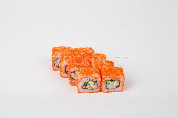 Sushi rolls Japanese food restaurant fish rice Stock photo © dmitriisimakov
