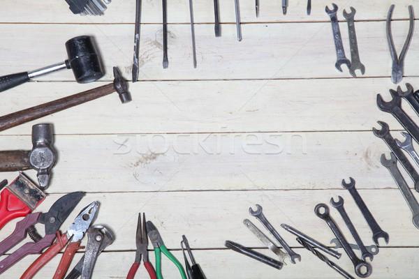 Construção chave de fenda reparar ferramenta branco casa Foto stock © dmitriisimakov