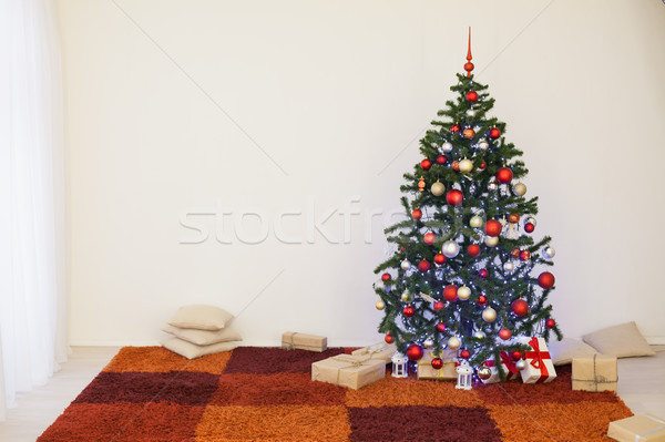 Christmas tree in the white room of the House for Christmas Stock photo © dmitriisimakov