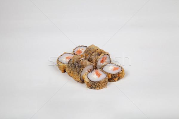 Comida japonesa sushi peixe branco comida Foto stock © dmitriisimakov