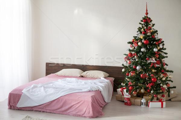 new year Christmas white room with Christmas tree 2018 2019 Stock photo © dmitriisimakov