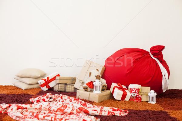 Рождества подарки вечеринка дизайна рождения Сток-фото © dmitriisimakov