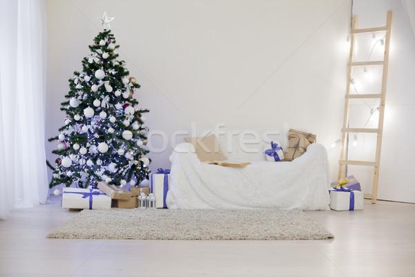 árbol de navidad Navidad regalos diseno marco Foto stock © dmitriisimakov