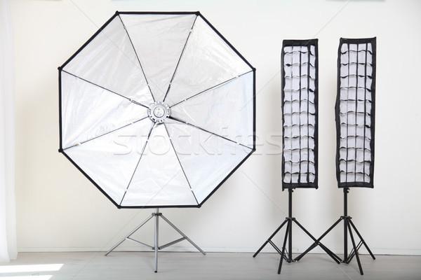 Flash on a white background in the Photo Studio equipment Stock photo © dmitriisimakov