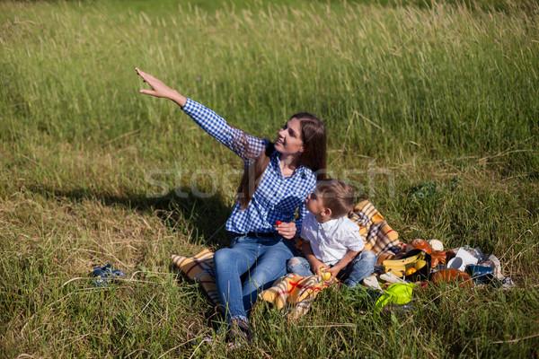 Anne küçük erkek aramak yaz zaman Stok fotoğraf © dmitriisimakov