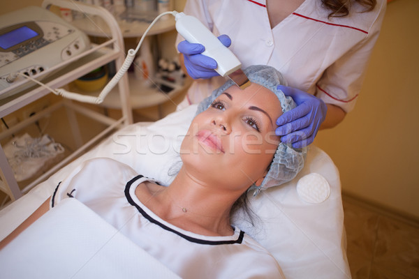 doctor cosmetologist makes the procedure a woman on the face of the Spa Stock photo © dmitriisimakov