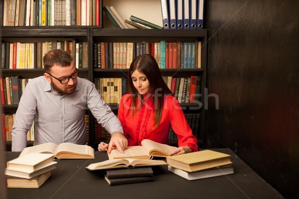 парень девушки готовый экзамен читать книгах Сток-фото © dmitriisimakov