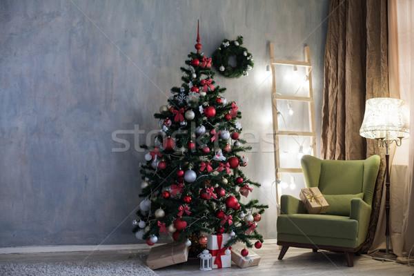 Habitación Navidad decoraciones árbol de navidad regalos árbol Foto stock © dmitriisimakov