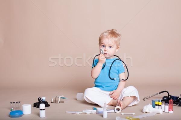 мальчика играет врач больницу медицинской фон Сток-фото © dmitriisimakov