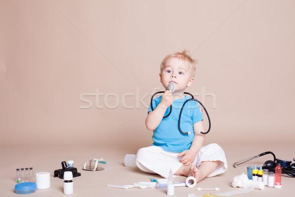 мальчика играет врач больницу медицинской медицина Сток-фото © dmitriisimakov
