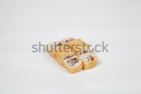 Japanese food Sushi rolls with fish on a white background Stock photo © dmitriisimakov