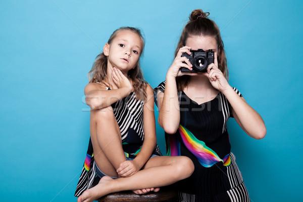 Photo stock: Deux · filles · soeurs · soeur · photos · famille