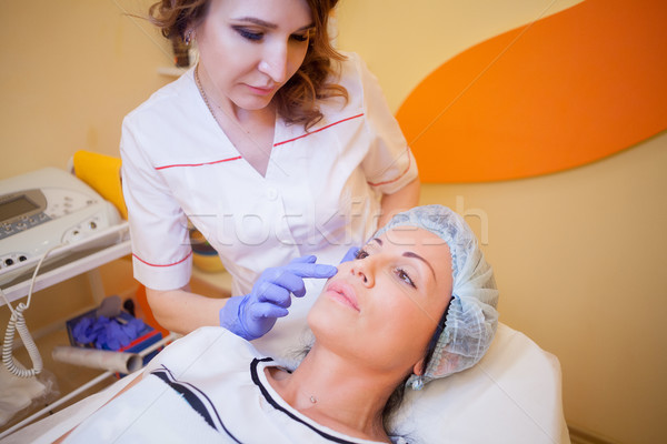 Cosmetology advice women before treatment Stock photo © dmitriisimakov