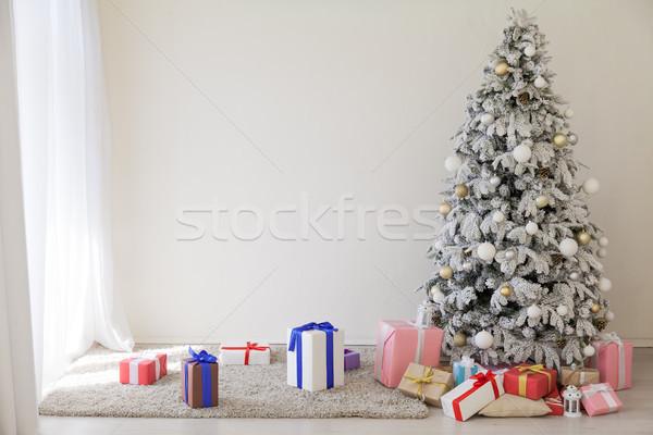 Daire yılbaşı noel ağacı hediyeler ev Stok fotoğraf © dmitriisimakov