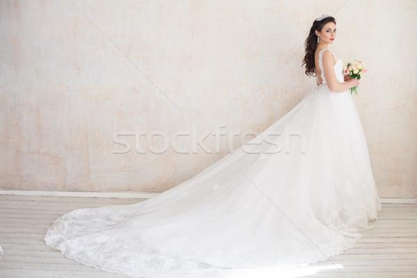 花嫁 王女 ロイヤル ウェディングドレス ヴィンテージ レース ストックフォト © dmitriisimakov