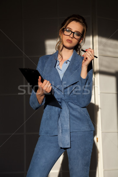business woman in business attire in the negotiations Stock photo © dmitriisimakov