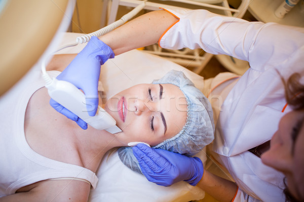 doctor cosmetologist doing procedures on the face Stock photo © dmitriisimakov
