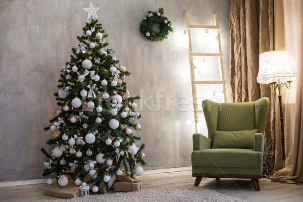 Foto stock: Navidad · árbol · de · navidad · regalo · decoración · vacaciones · regalos