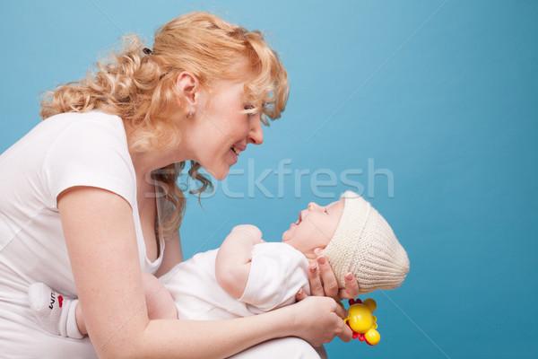 mom keeps on hand a baby son love happiness Stock photo © dmitriisimakov
