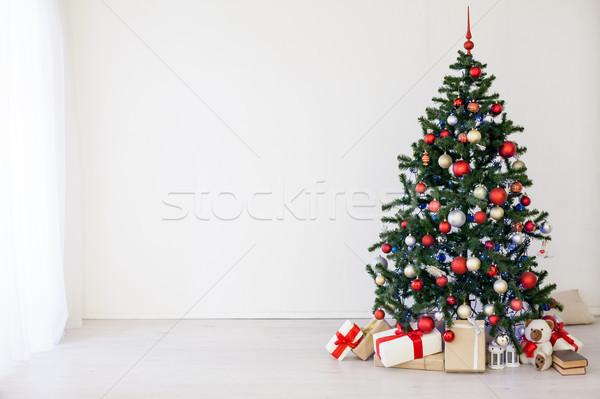 рождественская елка красный подарки белый комнату Рождества Сток-фото © dmitriisimakov