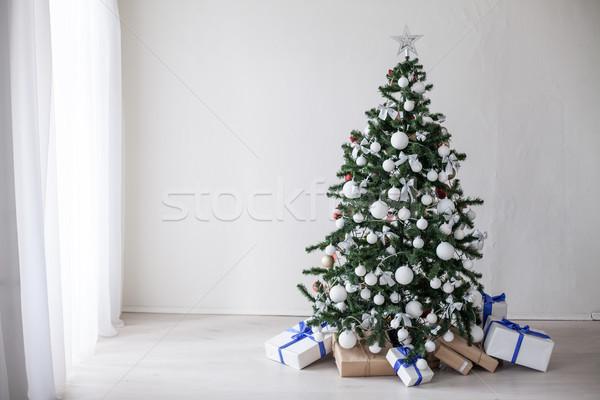 クリスマス 装飾 クリスマスツリー 白 ガラス 背景 ストックフォト © dmitriisimakov