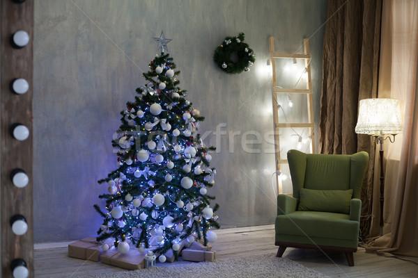 Noël cadeaux guirlande nouvelle année fête Photo stock © dmitriisimakov