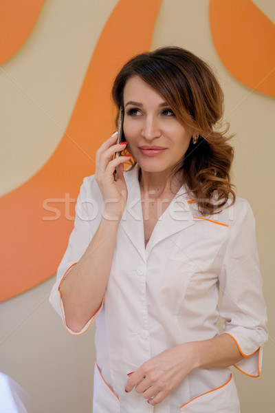 портрет женщину врач девушки счастливым тело Сток-фото © dmitriisimakov