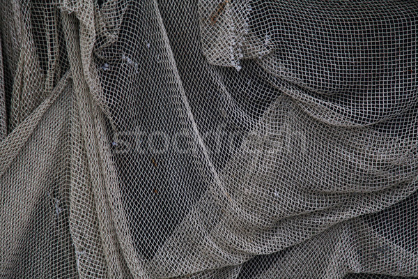 old fishing net hangs on the wall Stock photo © dmitriisimakov